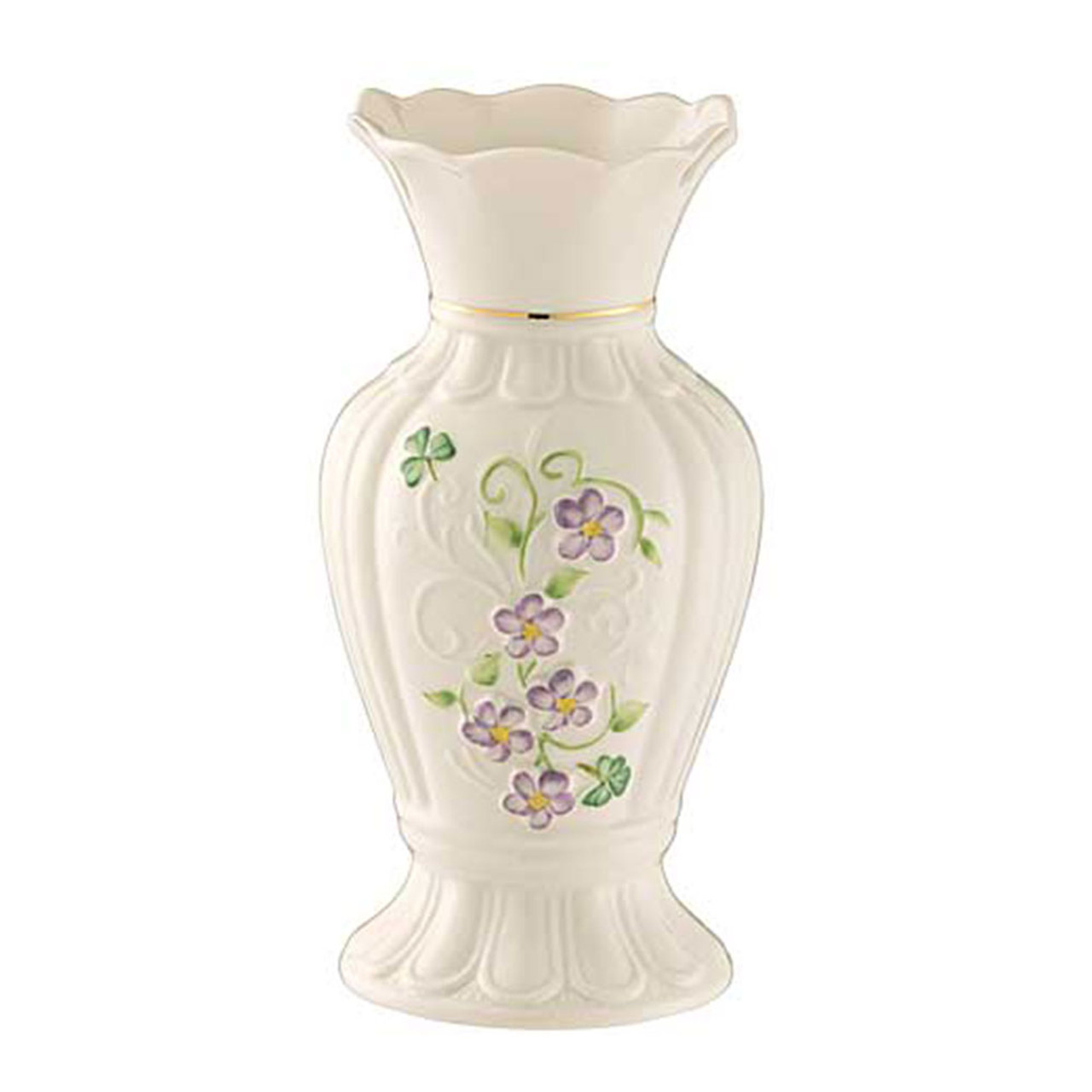 "Irish Flax Vase 7"" by Belleek"