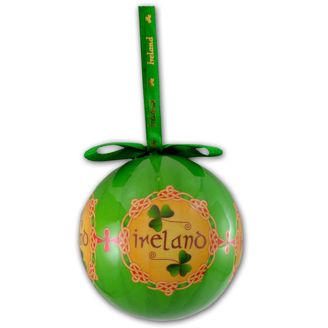 """Ireland"" Celtic Bauble Ornament"