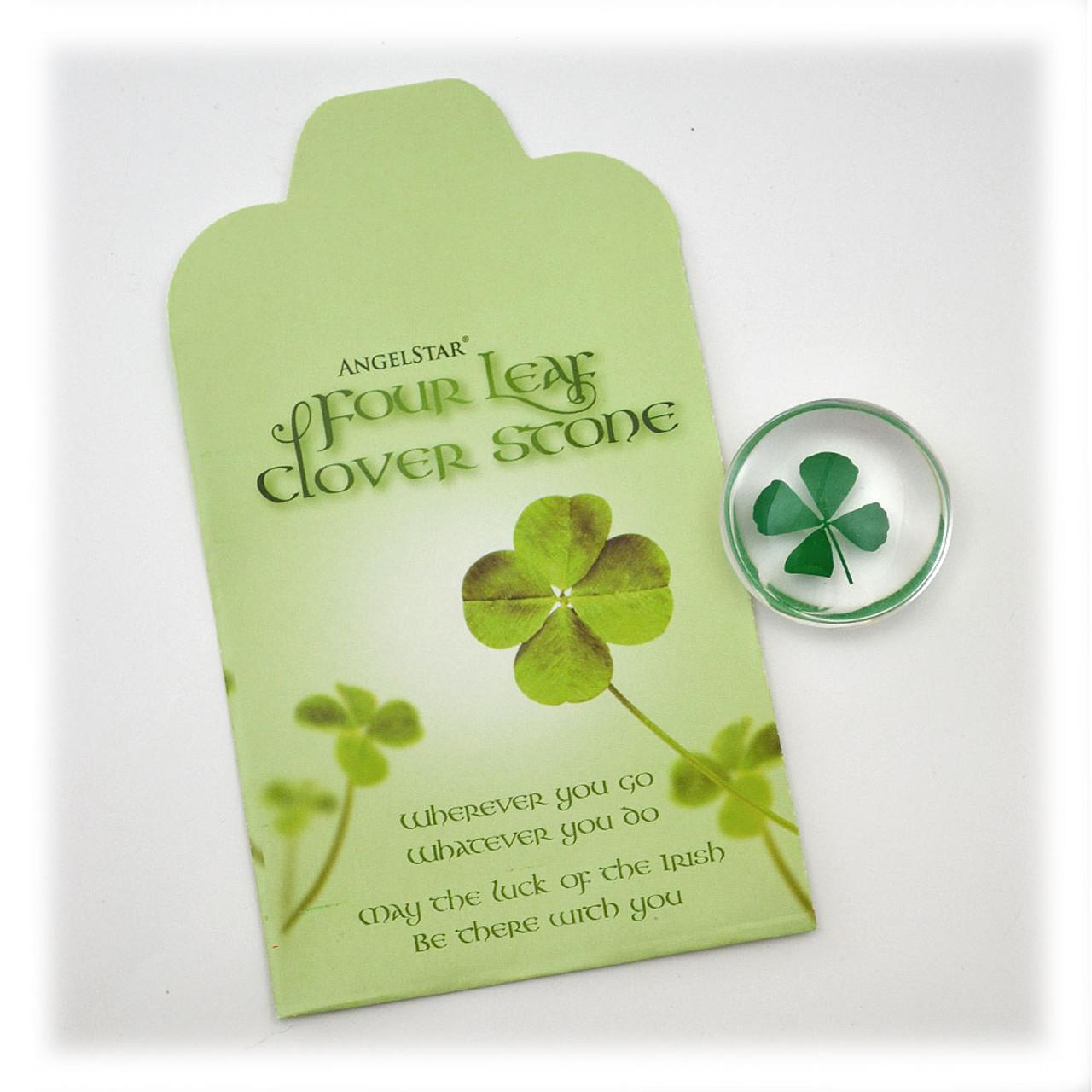 4 Leaf Clover Pocket Stone