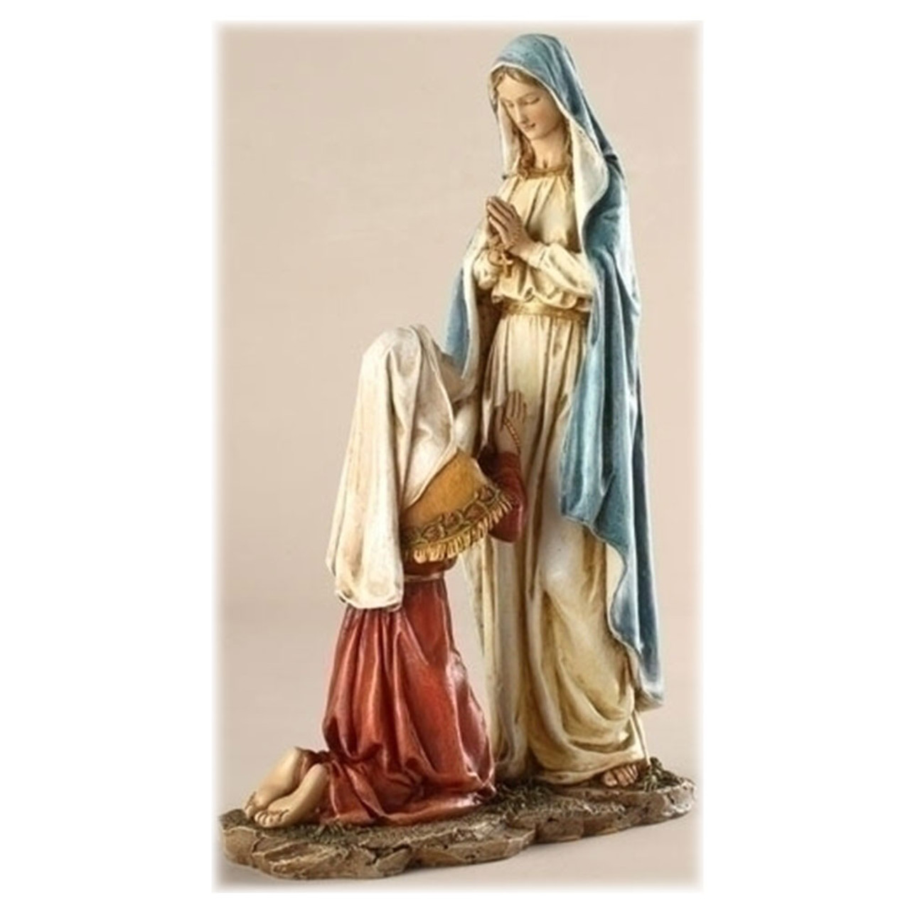 Our Lady of Lourdes Statue 10IN Resin/Stone