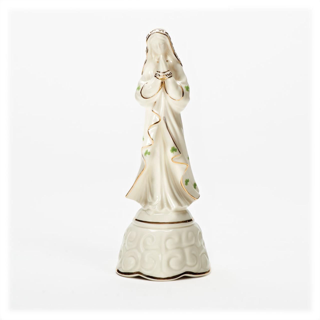 "Porcelain Irish Madonna Musical Figurine 8"""