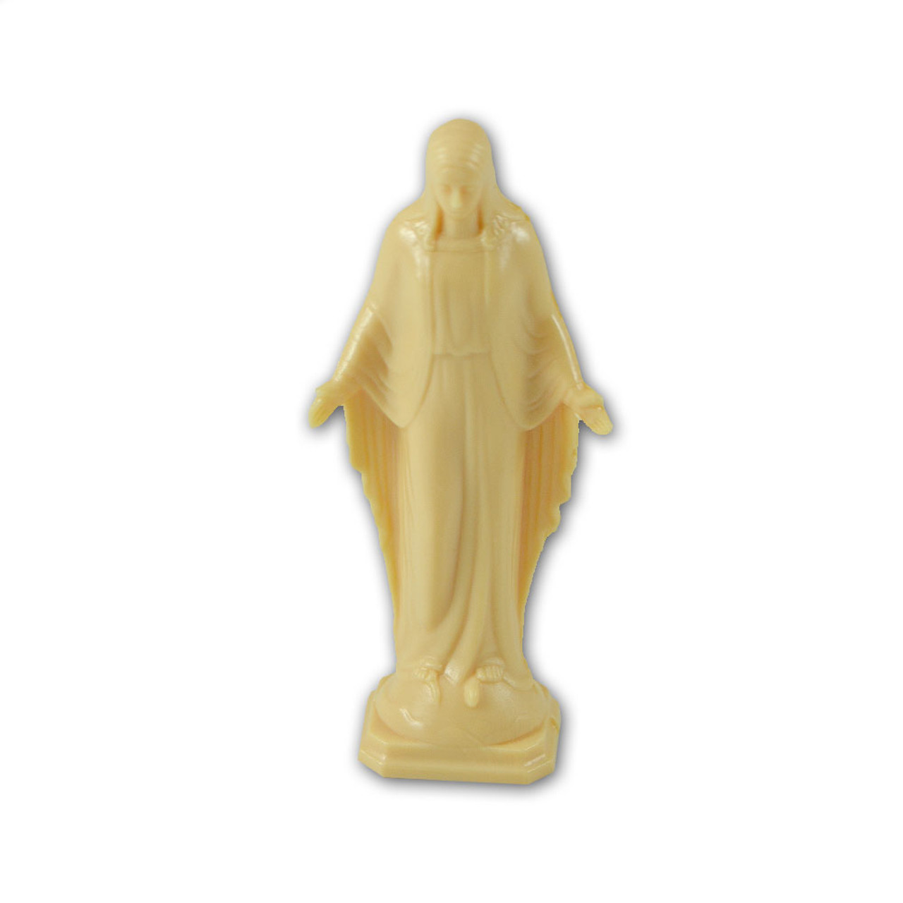 Small 2.5 IN Plastic Our Lady of Grace Statue