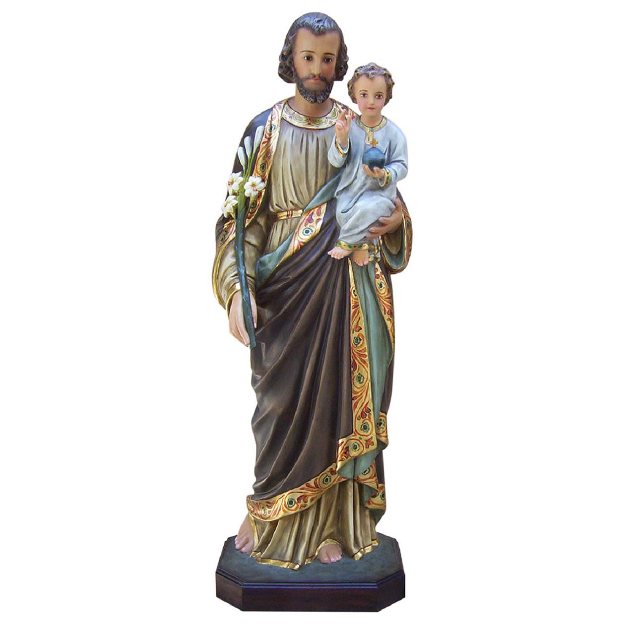 4' St. Joseph & Child in Colored Fiberglass