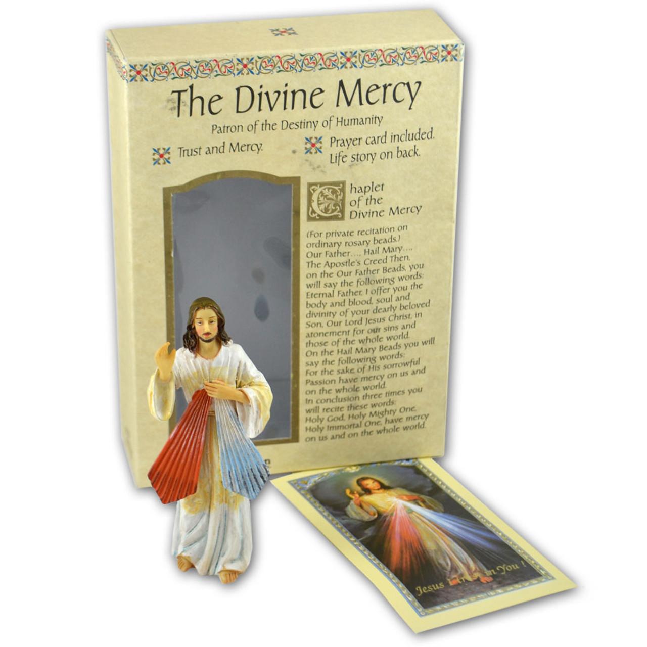 Divine Mercy Jesus I Trust in You 4 Inch Statue