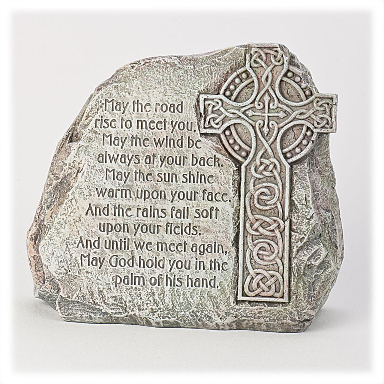 """""""May the Road Rise to Meet You"""" Irish Garden Cross"""