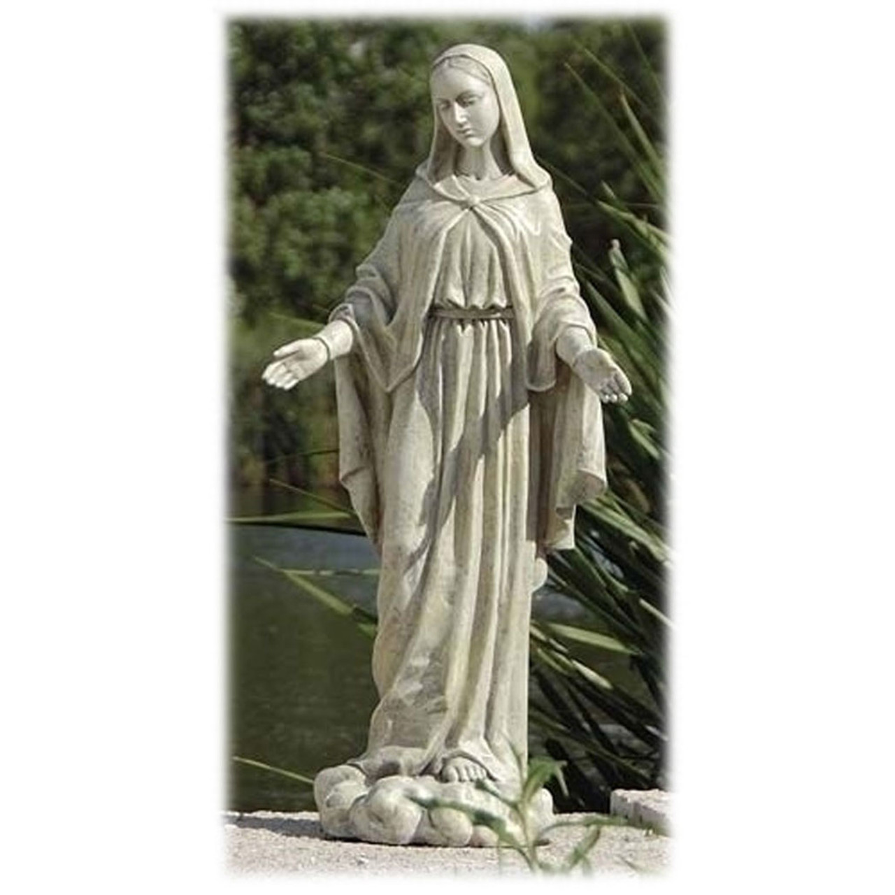"24"" Our Lady of Grace Outdoor Garden Statue"