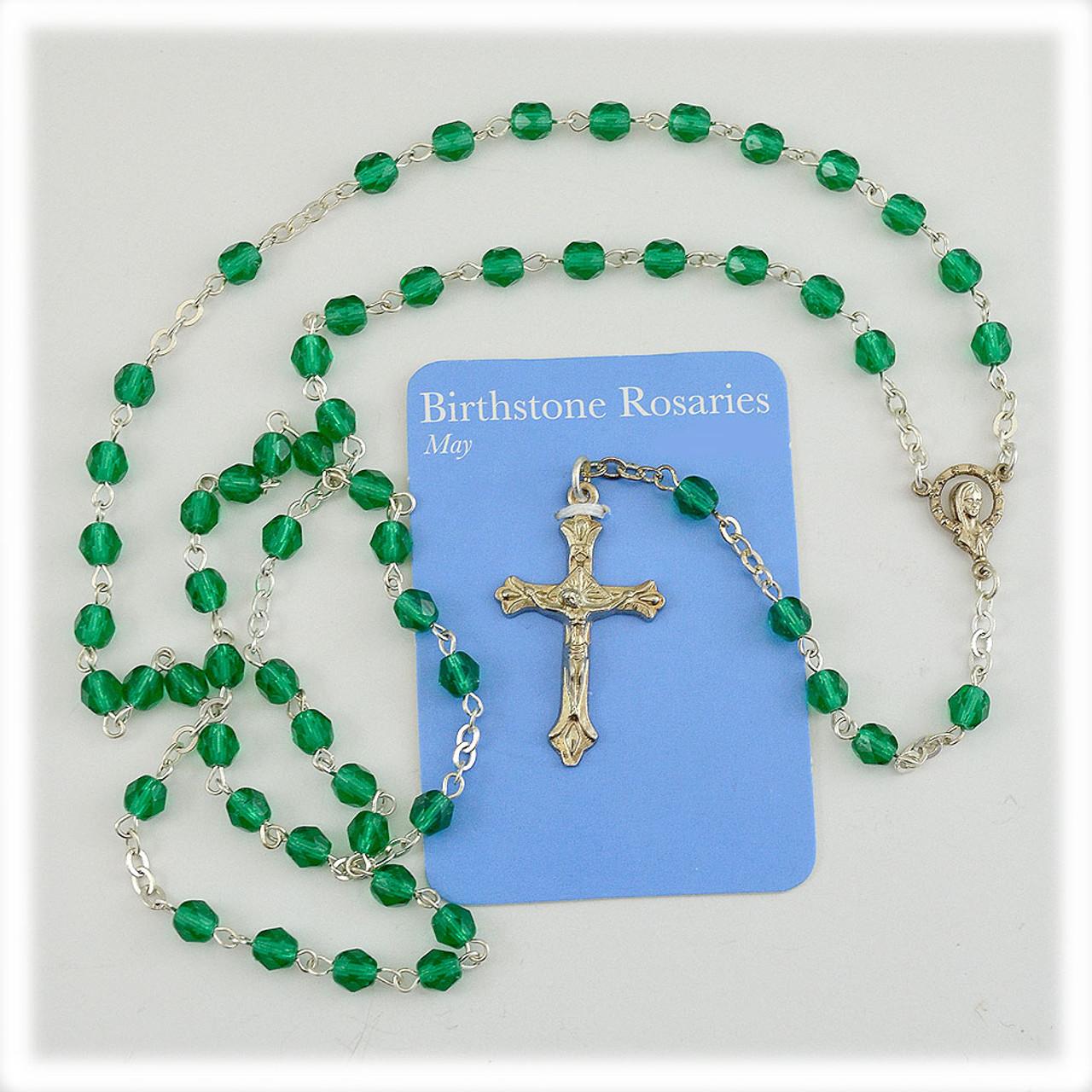 4mm Glass Birthstone Rosaries