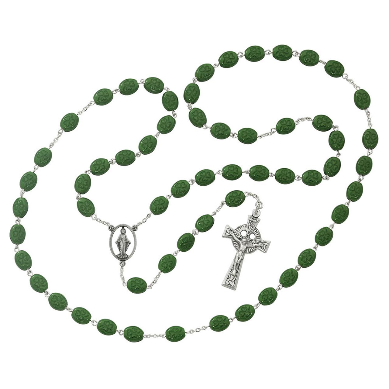 Shamrock Rosary Beads