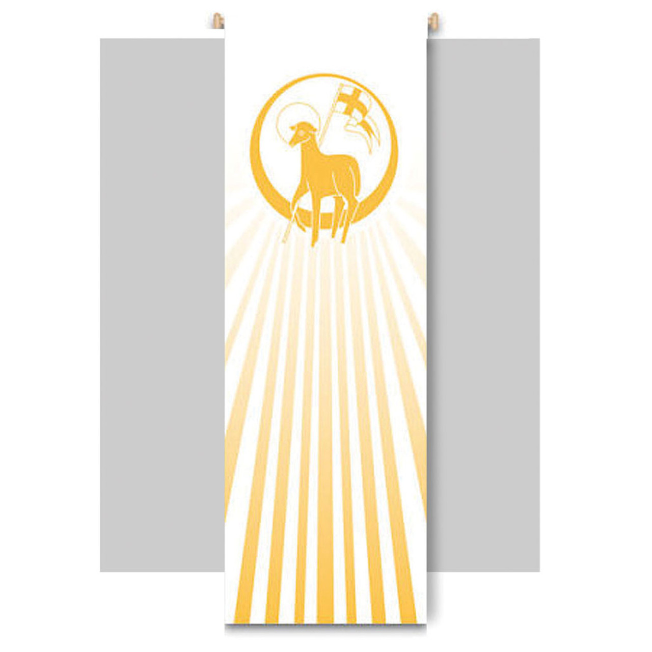 Art Studio Slabbinck Lamb of God Church Banner 9x3 Feet
