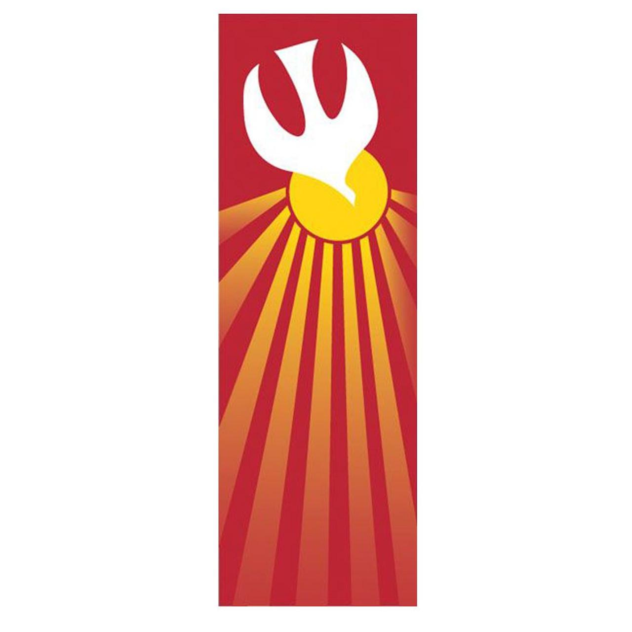 7115 Holy Spirit Church Banner 3' x 10' Red