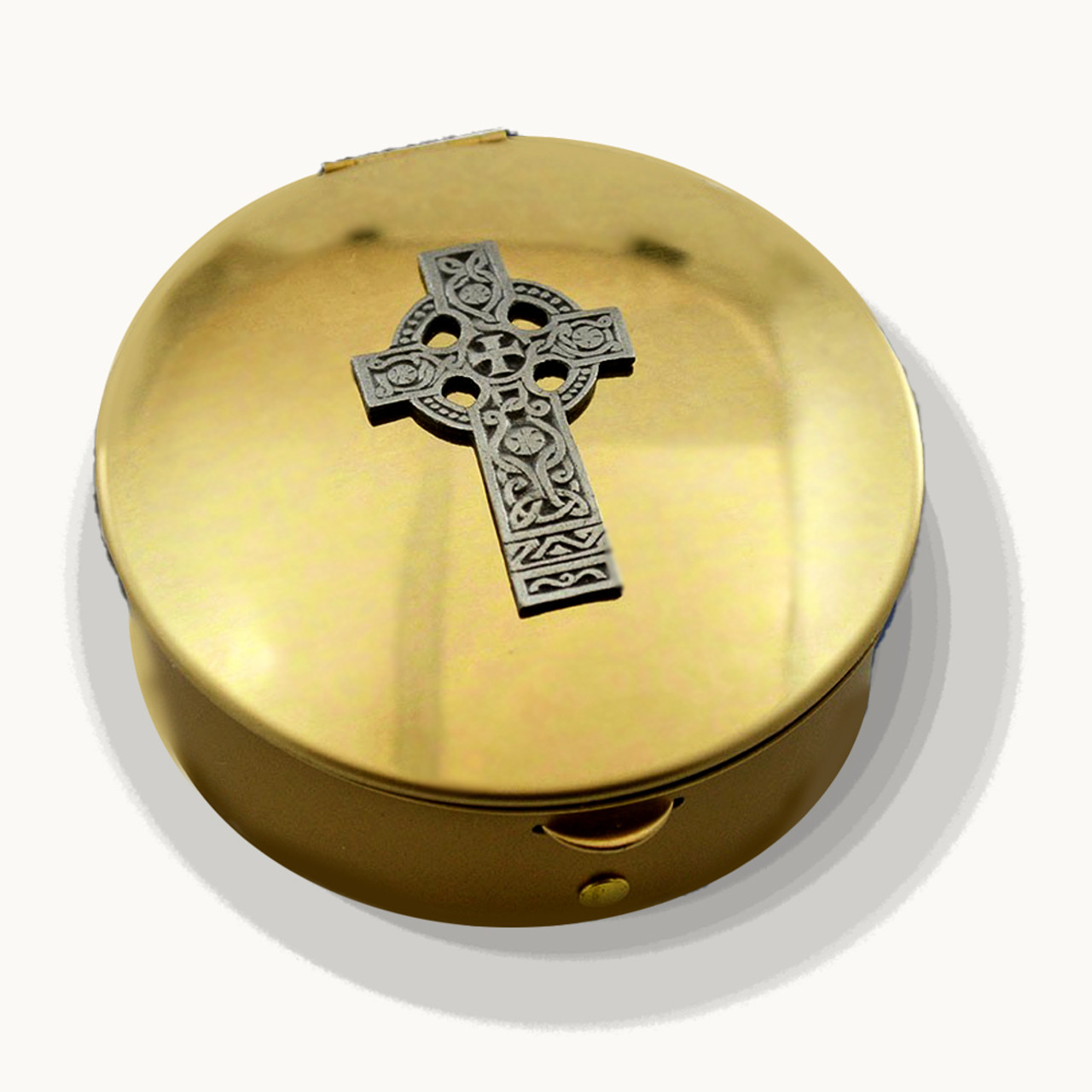 PS 144 Brass Pyx with Celtic Design