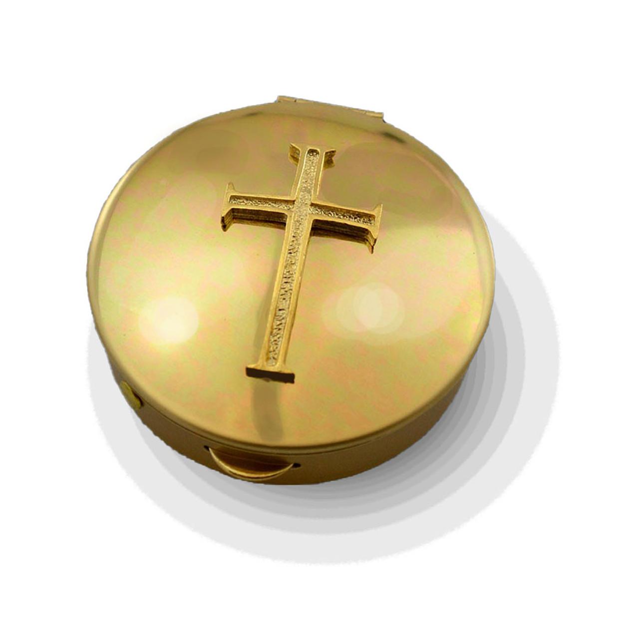 PS 202 Brass Pyx with Latin Cross