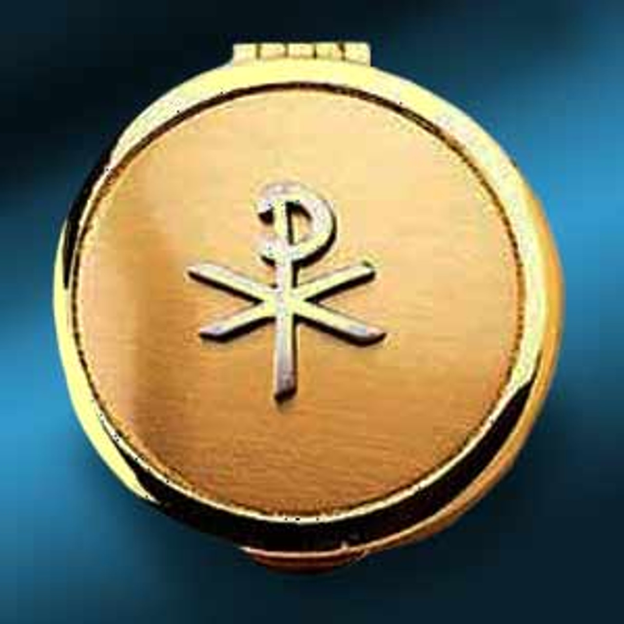 Gold-Plated Chi Ro Cross Pyx- 6-9 Wafers