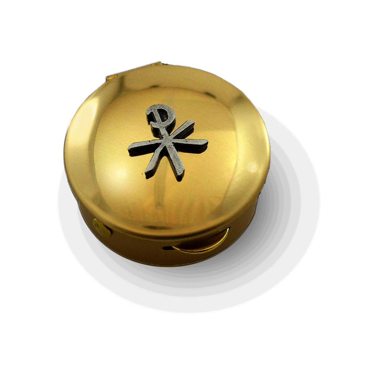 PS 131 Small Brass Pyx with Chi Rho
