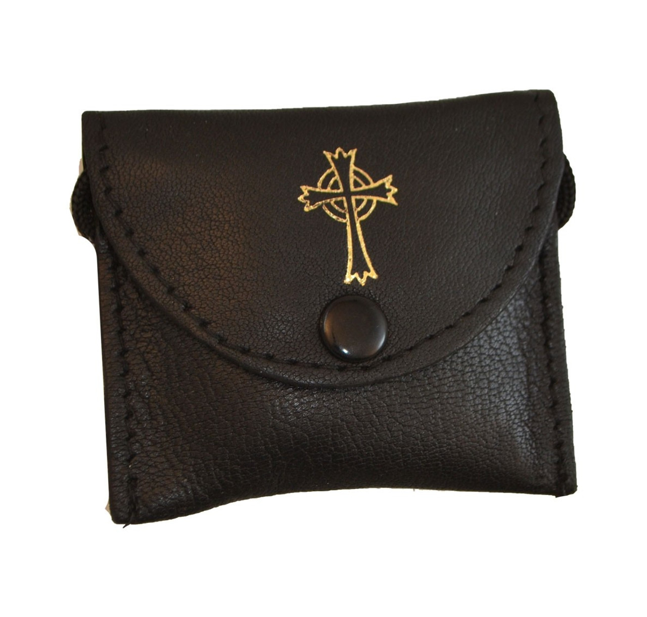 Small Leather Burse with Cross