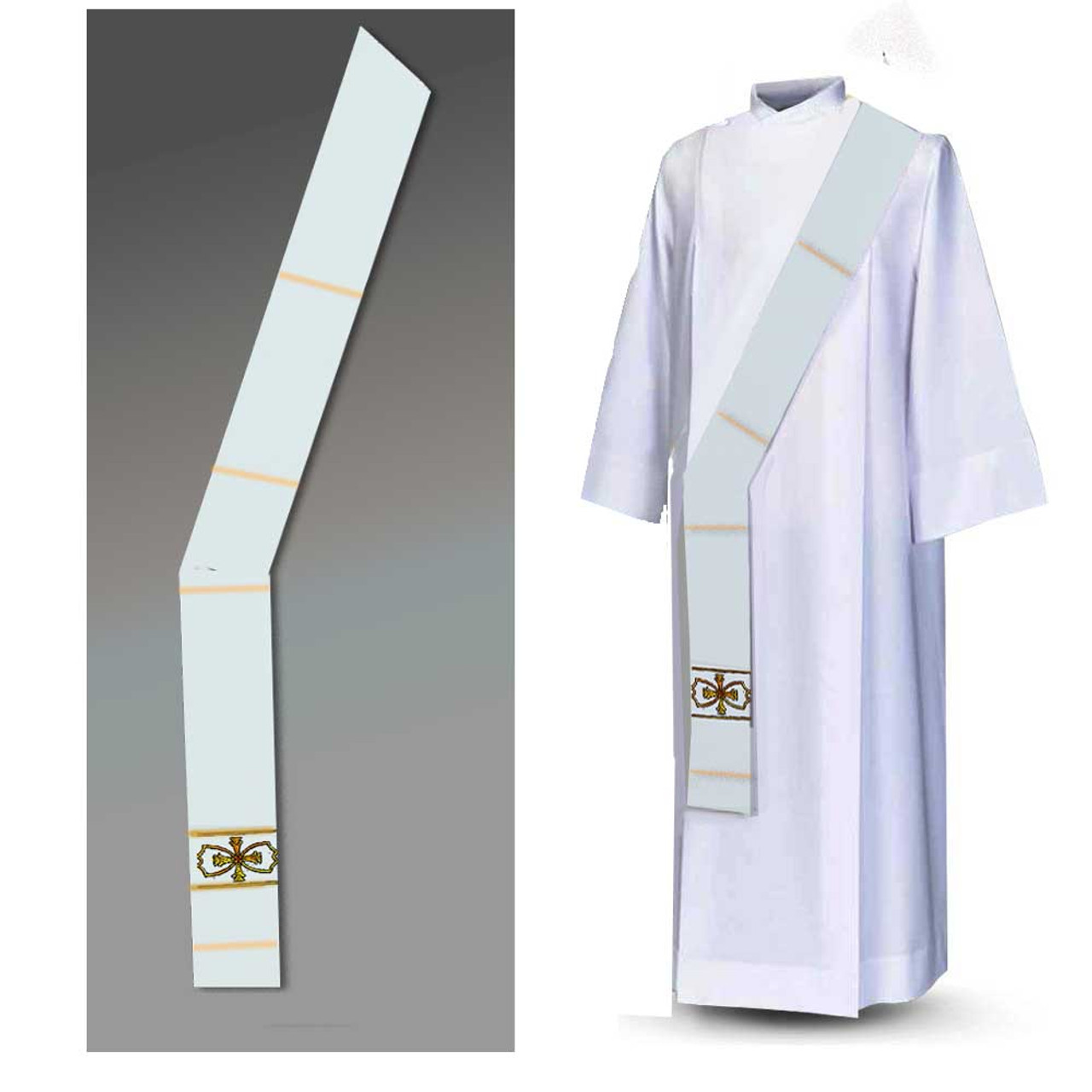 1152 Off-White Deacon Stole from Houssard