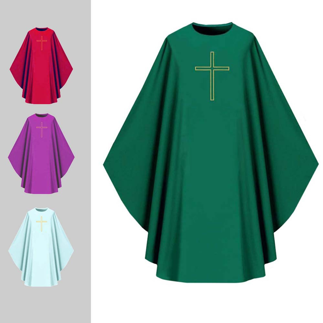 1002 Gothic Green Assisi Chasuble