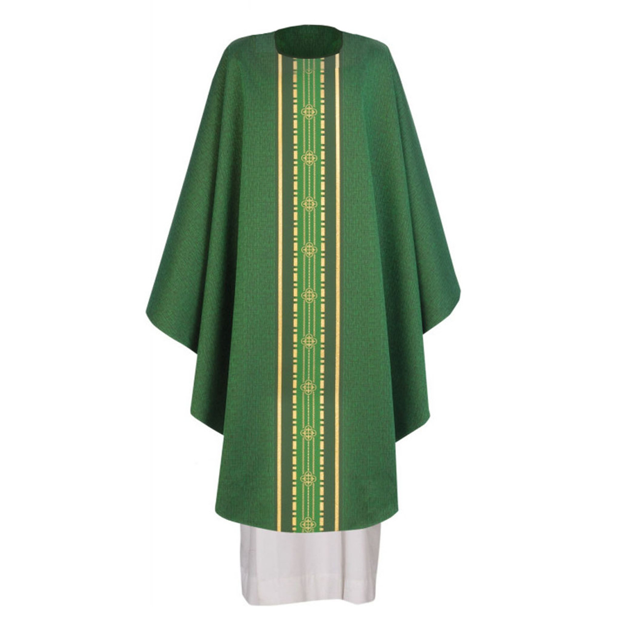 700247  Green Chasuble from Arte Houssard