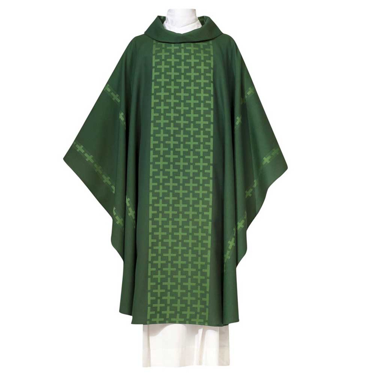 102-7893 All Saints Chasuble Forest Green