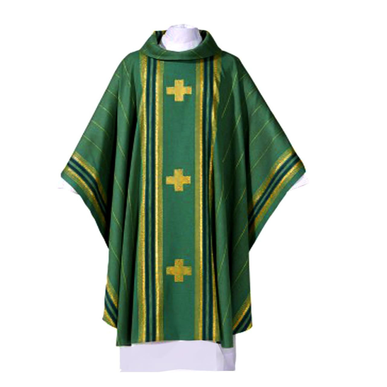 Green Chasuble Macarius Fabric
