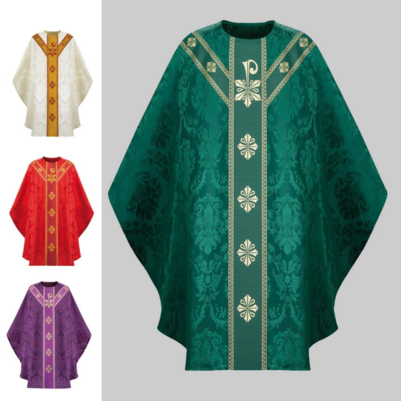 3889 Green Chasuble in Rafael