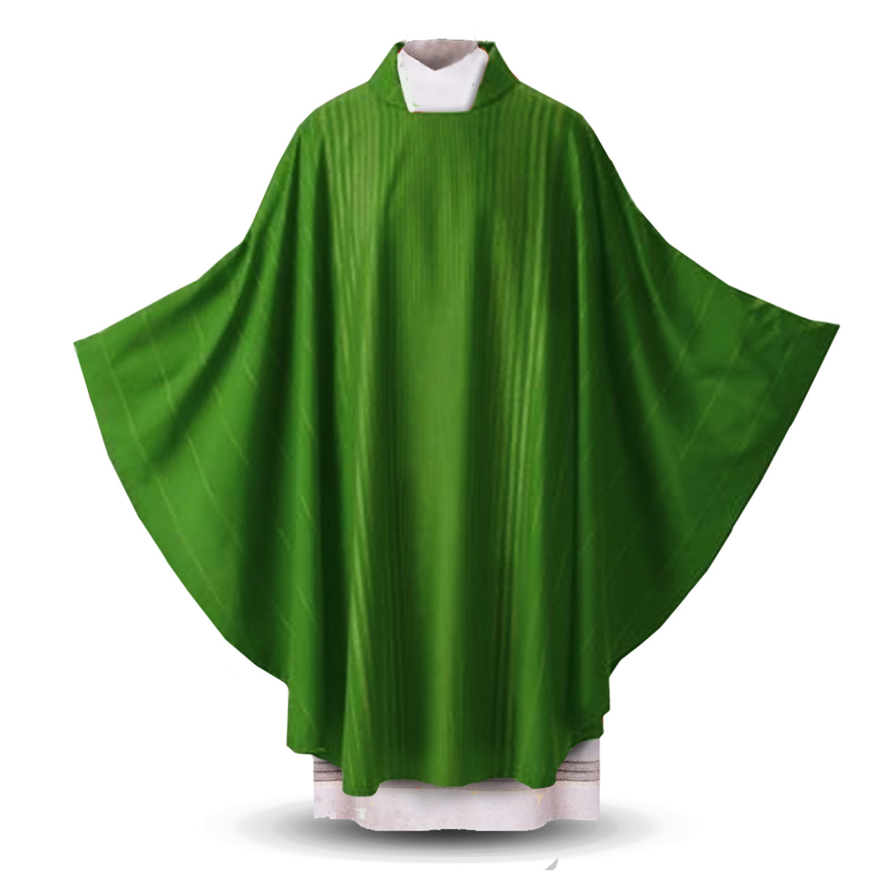 01.14 Green Chasuble in Rayada from Sorgente