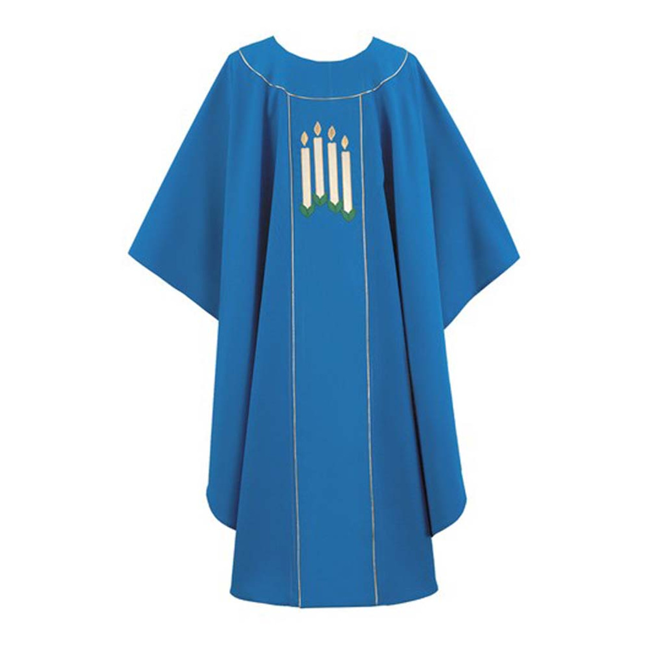 Indigo Advent Chasuble with 4 Candles