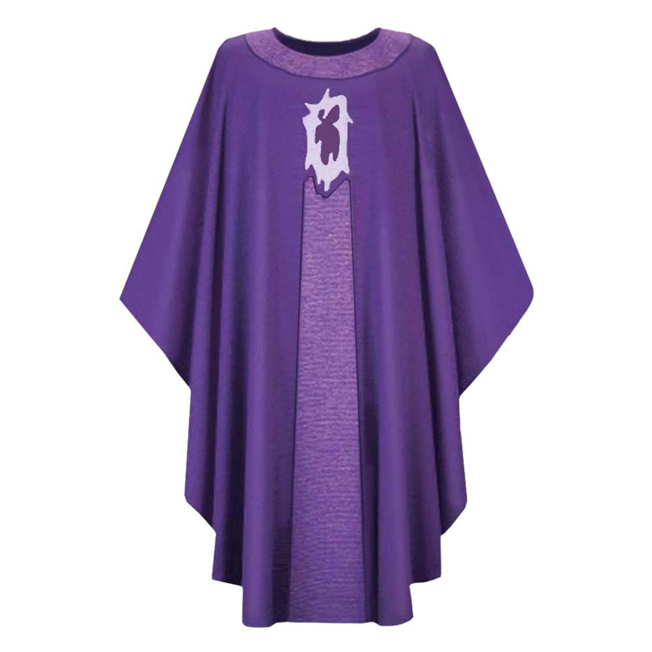 3419 Purple Chasuble in Dupion