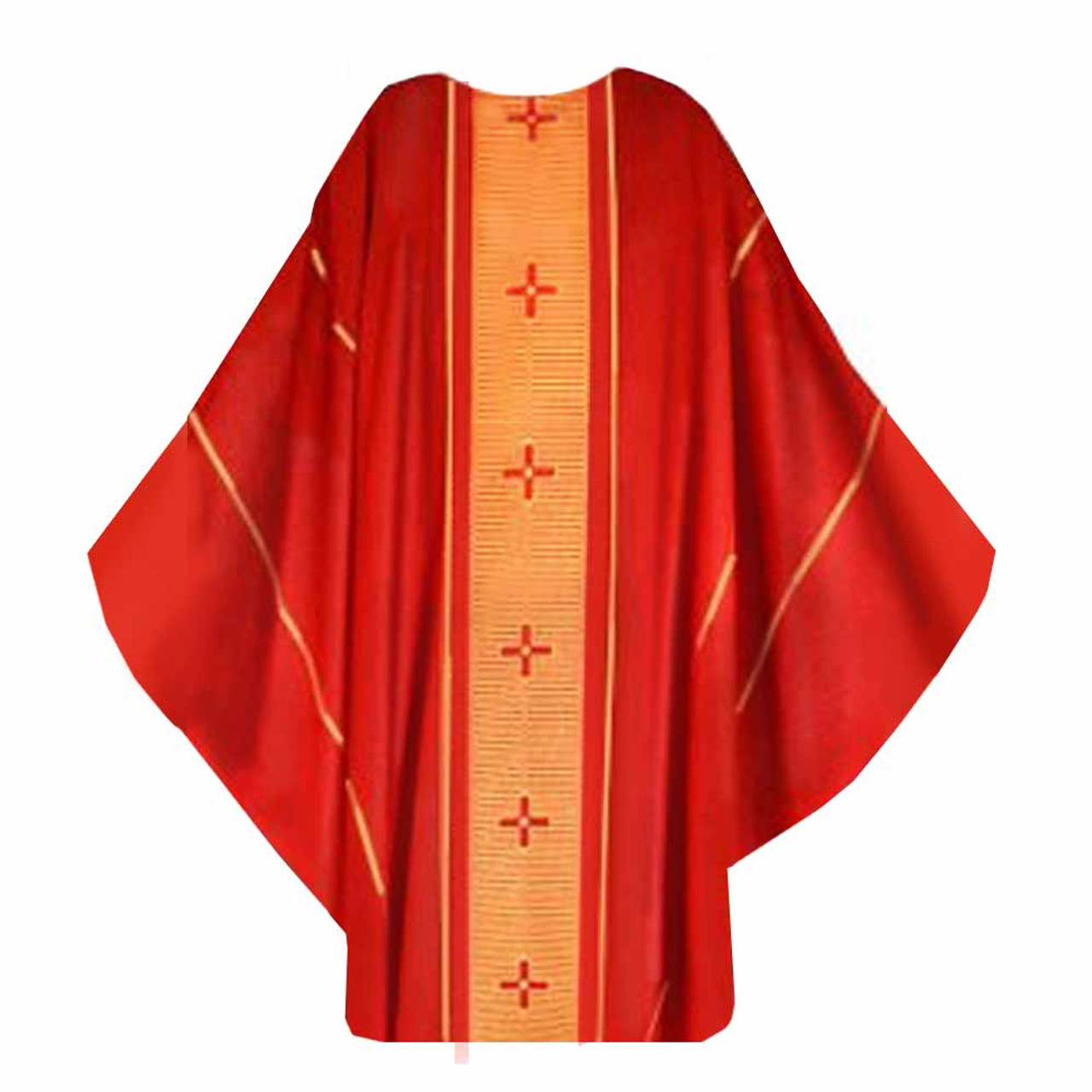 147 Red Chasuble Gothic Cut from Houssard