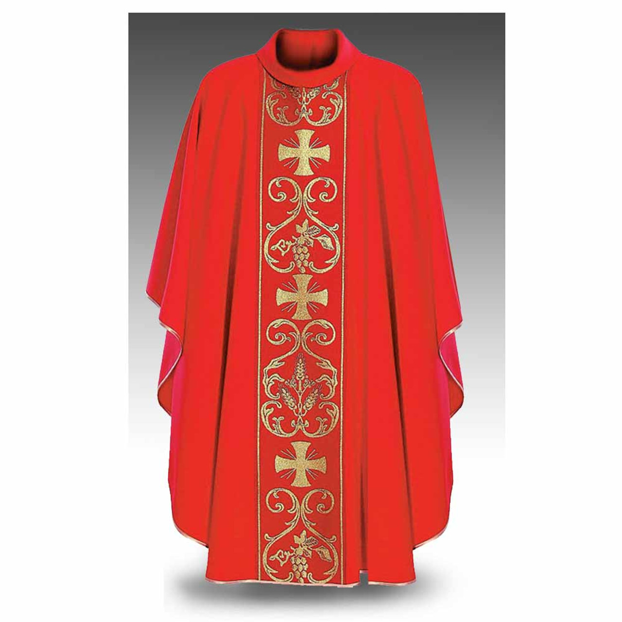 Red Chasuble Cowl Collar Hayes & Finch