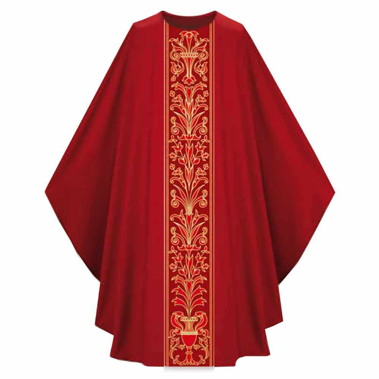 3972 Red Chasuble in Pius