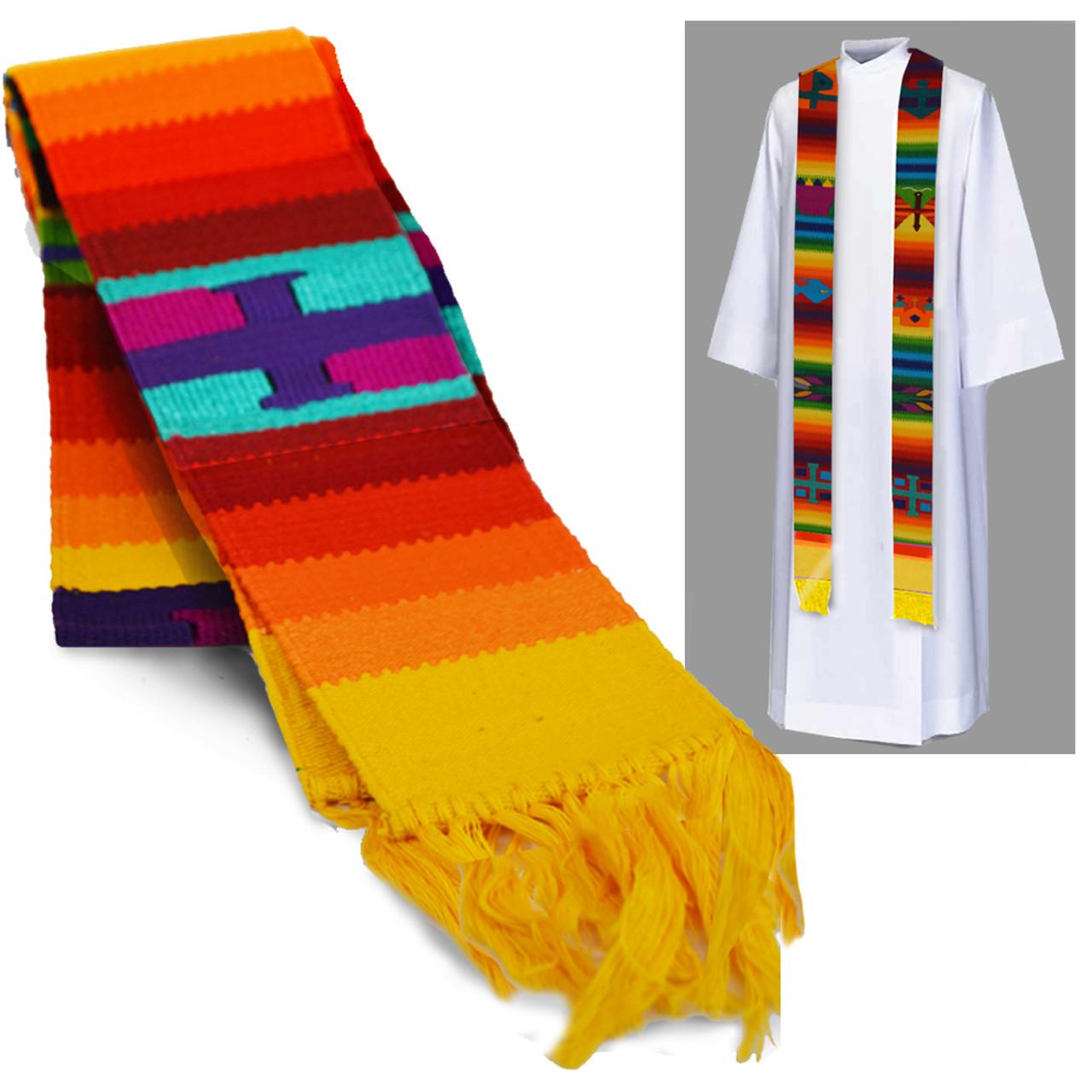 Priest Aititlan Rainbow Overlay Stole