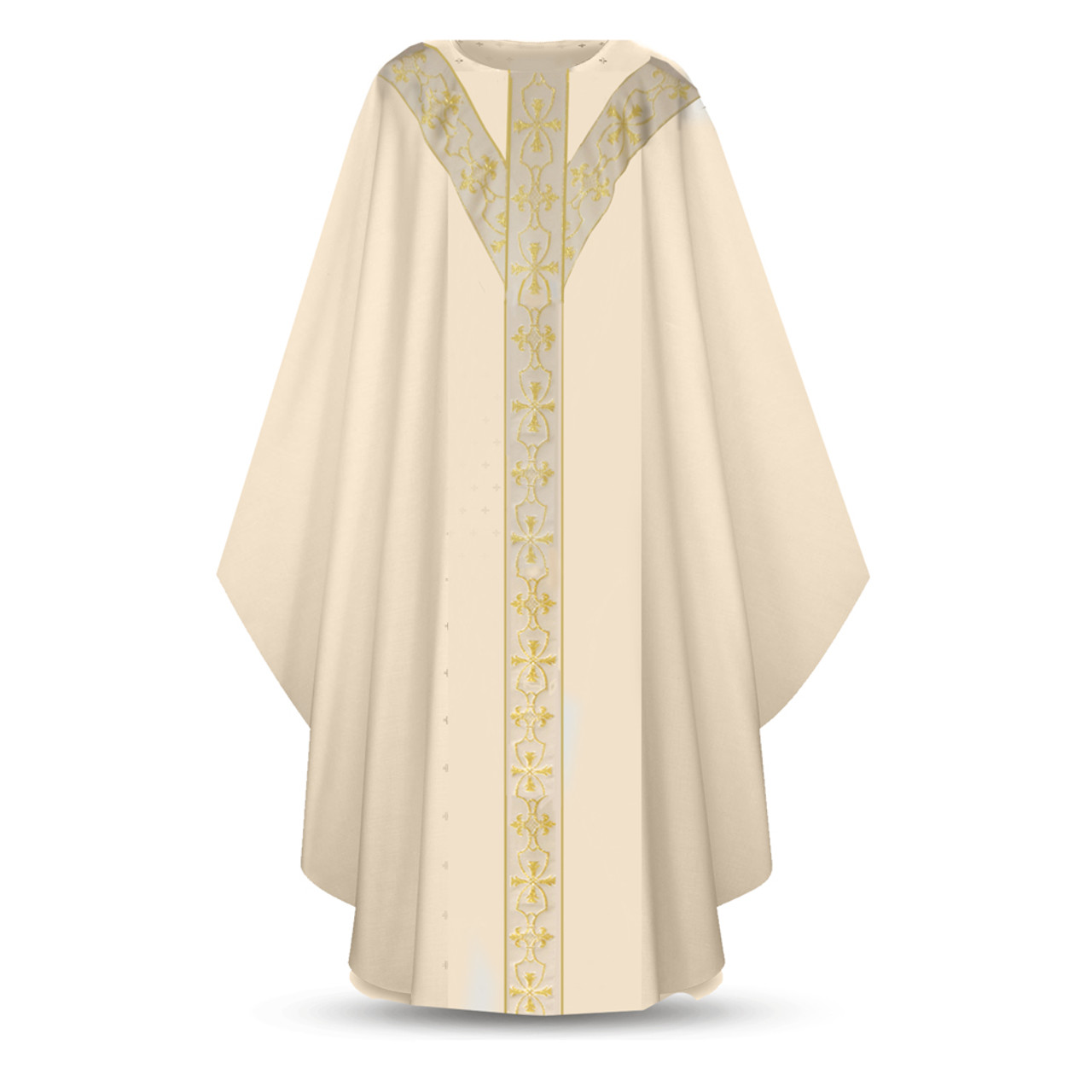 Chasuble White Plain Collar