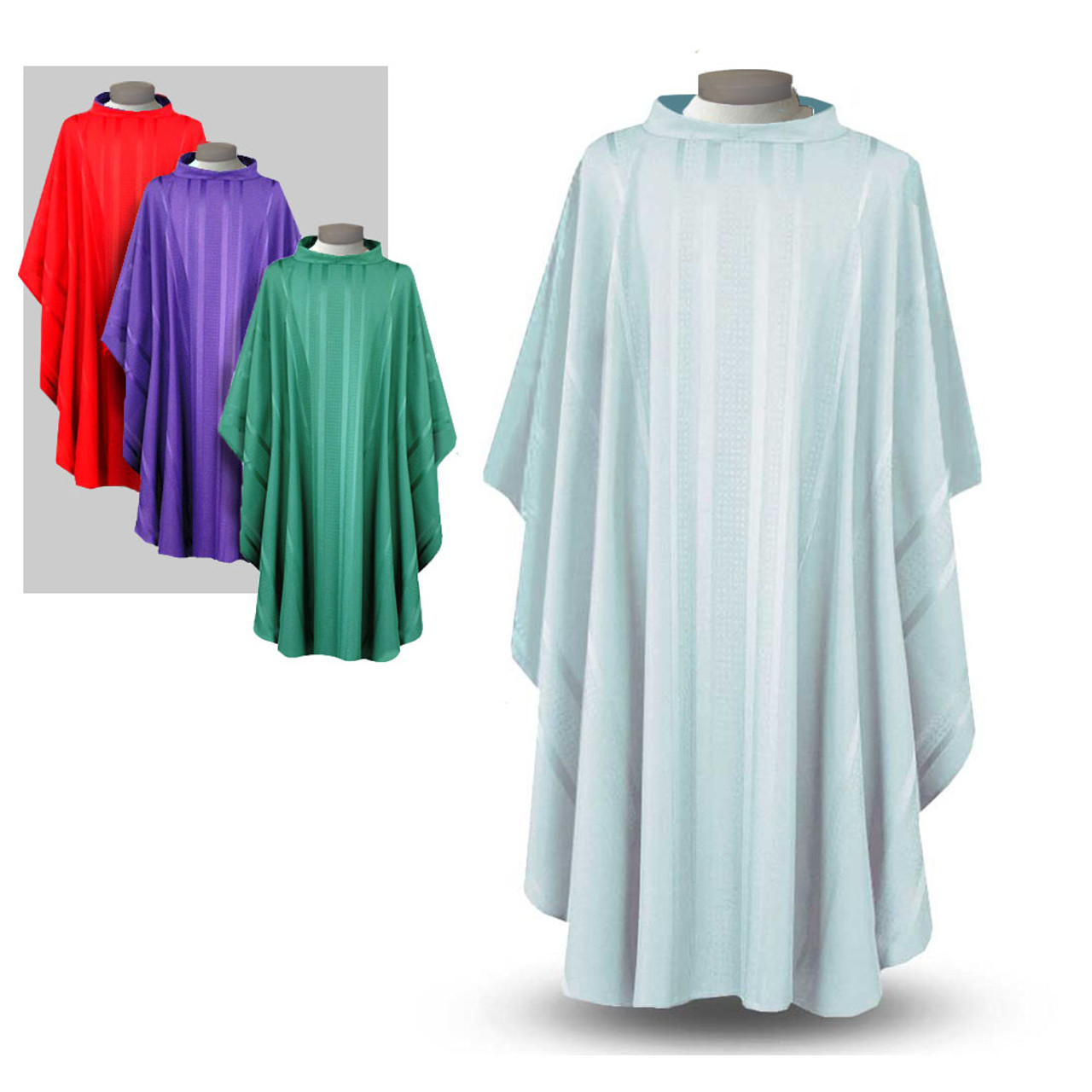 Inexpensive White Chasuble