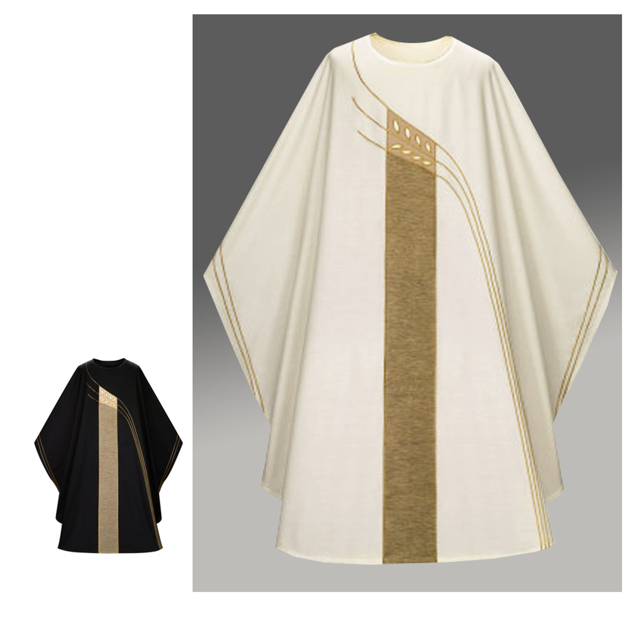 5121 White Chasuble in Dupion