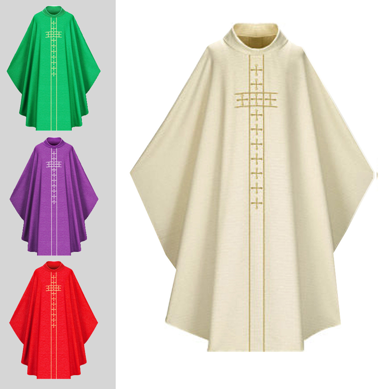5087 White Chasuble in Cantate