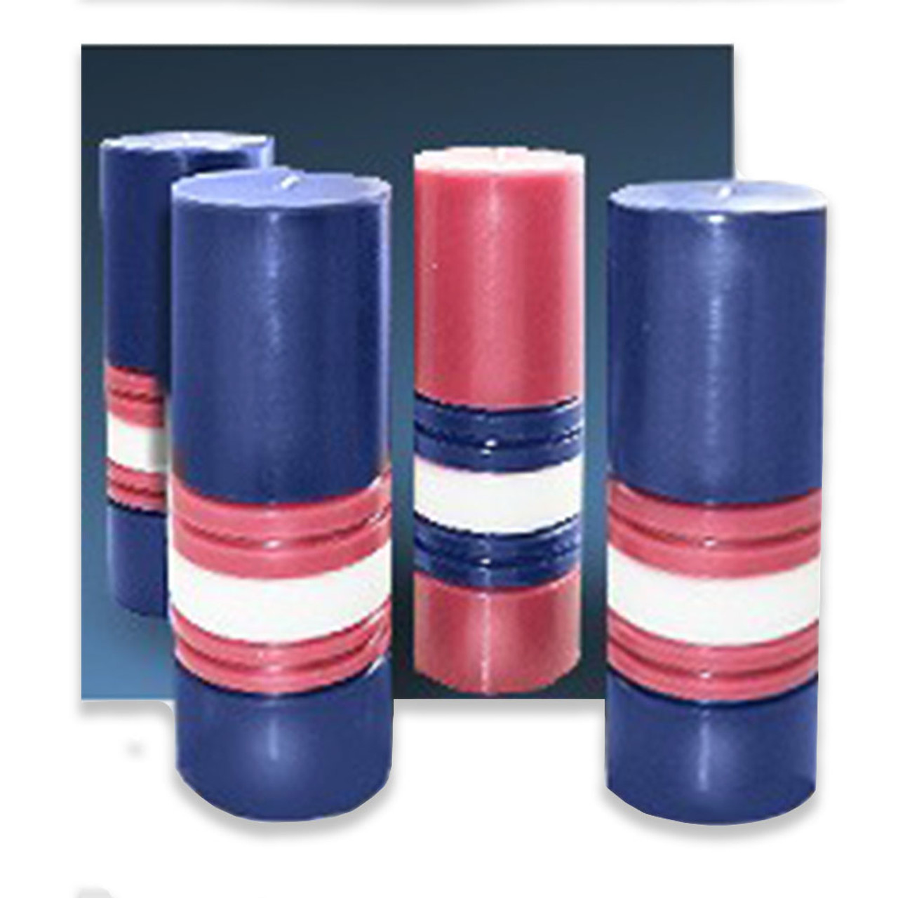 """3""""x10"""" Blue/Pink Stearine Advent Candles: Set of 4"""