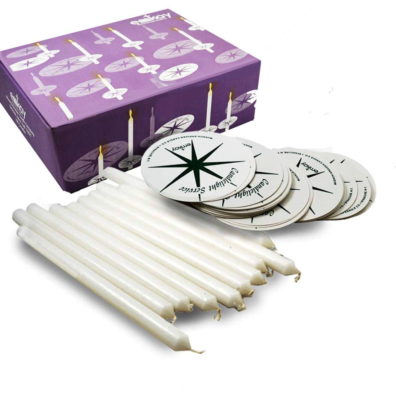 Lighting The Way Kit/100 Candles -Drip Protectors