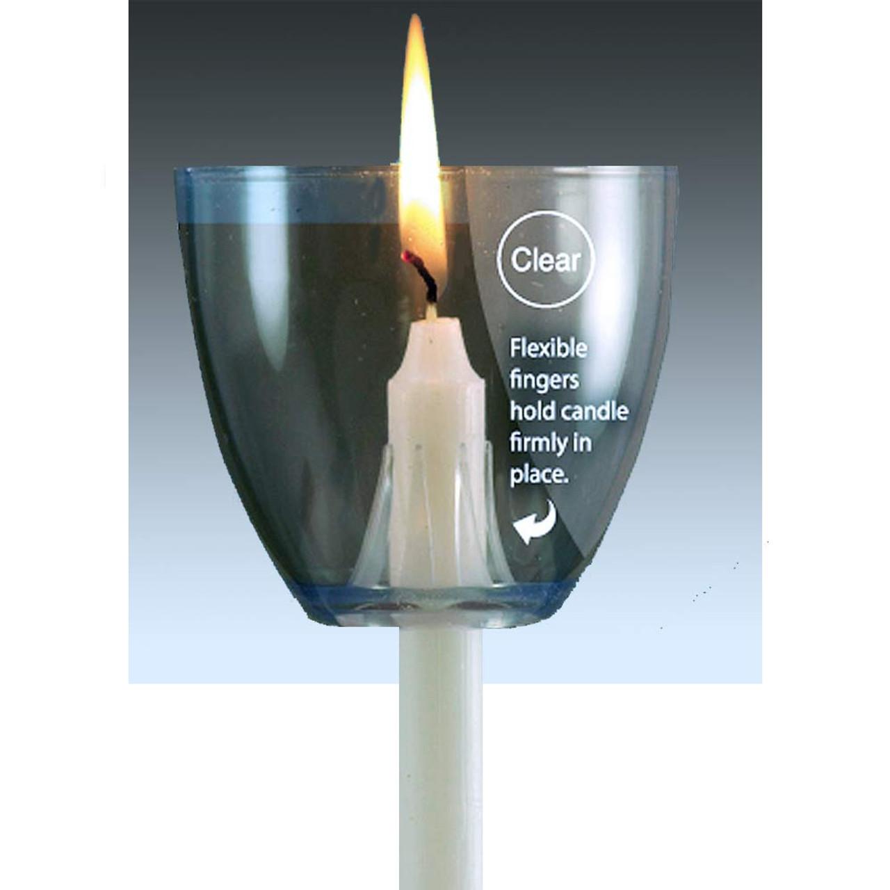 Clear Plastic Candle Cup Drip Protectors/Pkg 100