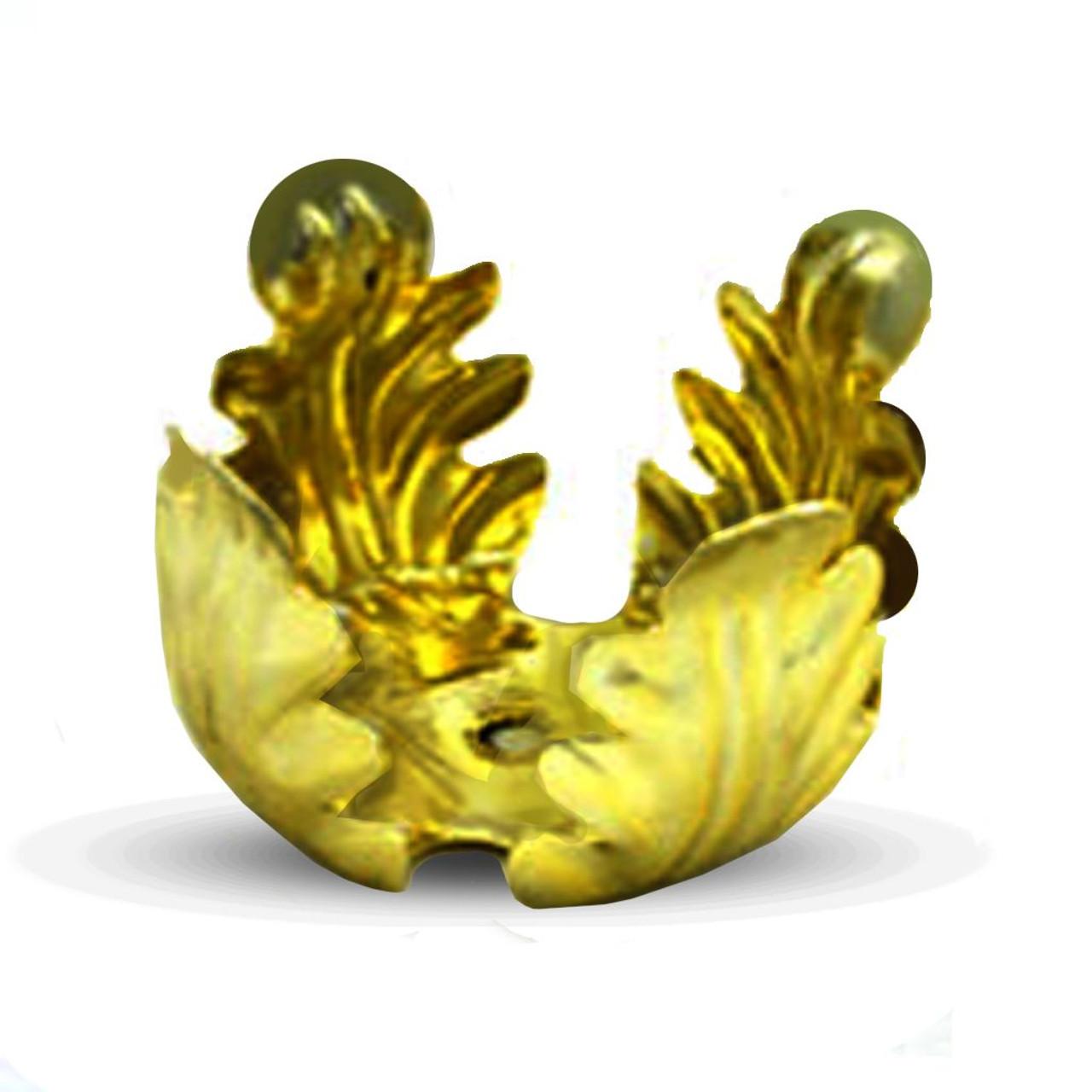 Brass Plated Leaf Candle Holder for 15 HR Votives