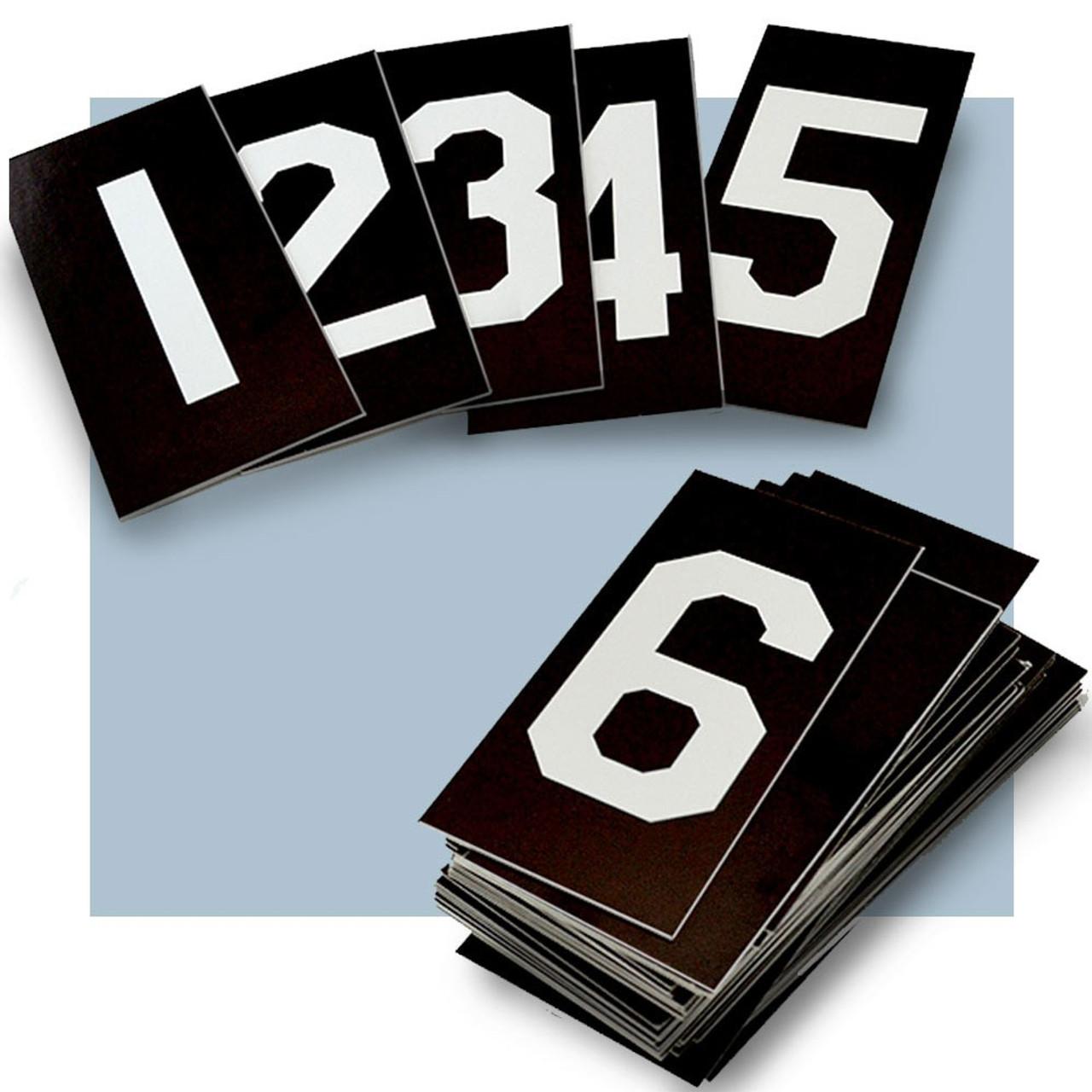 "Hymn Board Number Set White/Black 0-9 2"" X 3-1/2"""