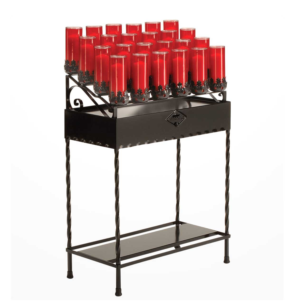 19x37 Votive Stand with Wrought Iron Legs