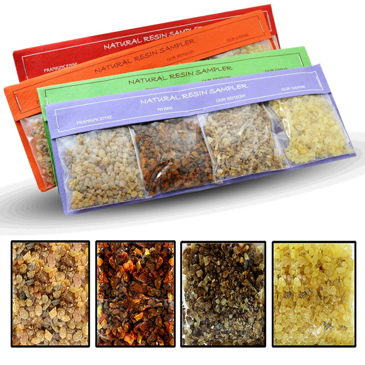 Natural Resin Incense Sampler with 4 Packets