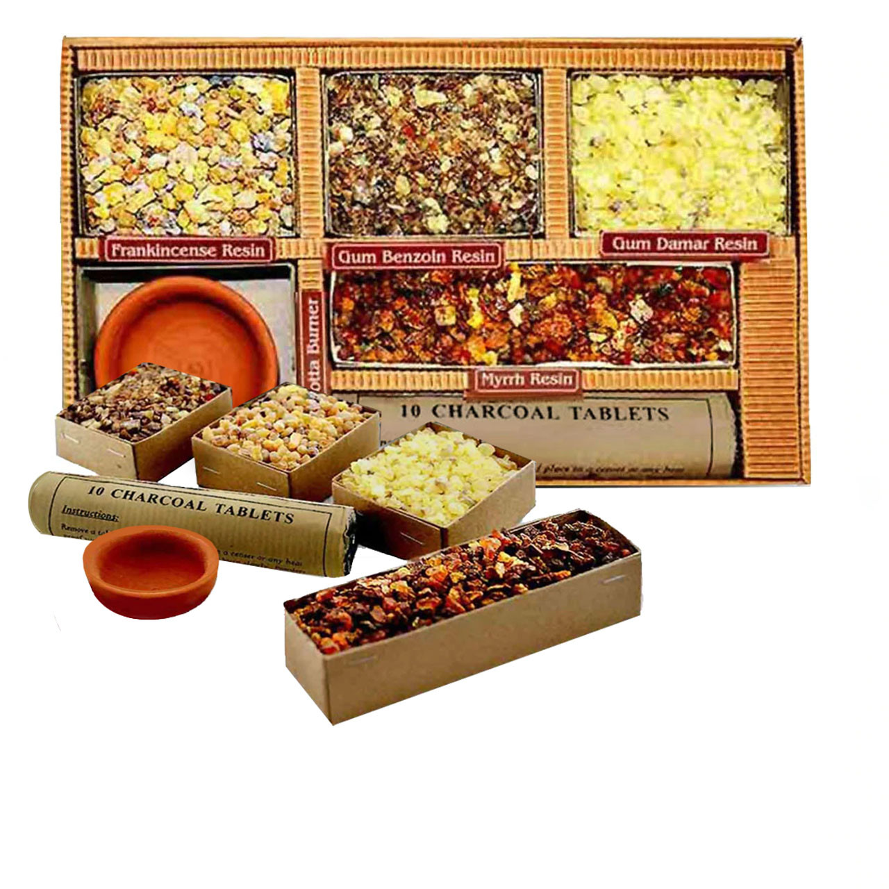 Incense Sampler with Charcoal and Burner