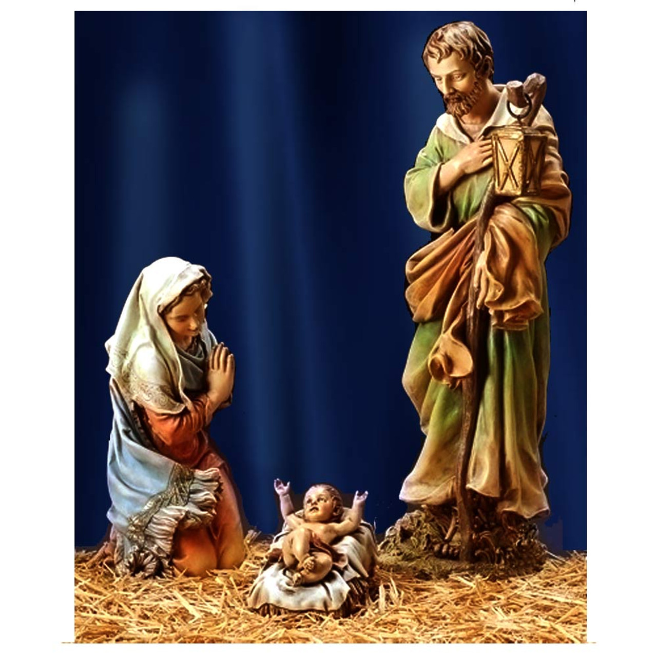 Large Indoor Outdoor Nativity Set Holy Family Figures 27 Inches
