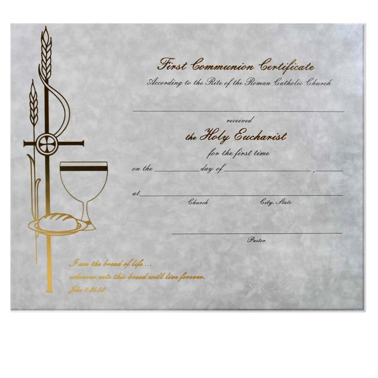 Communion Certificate (Each)