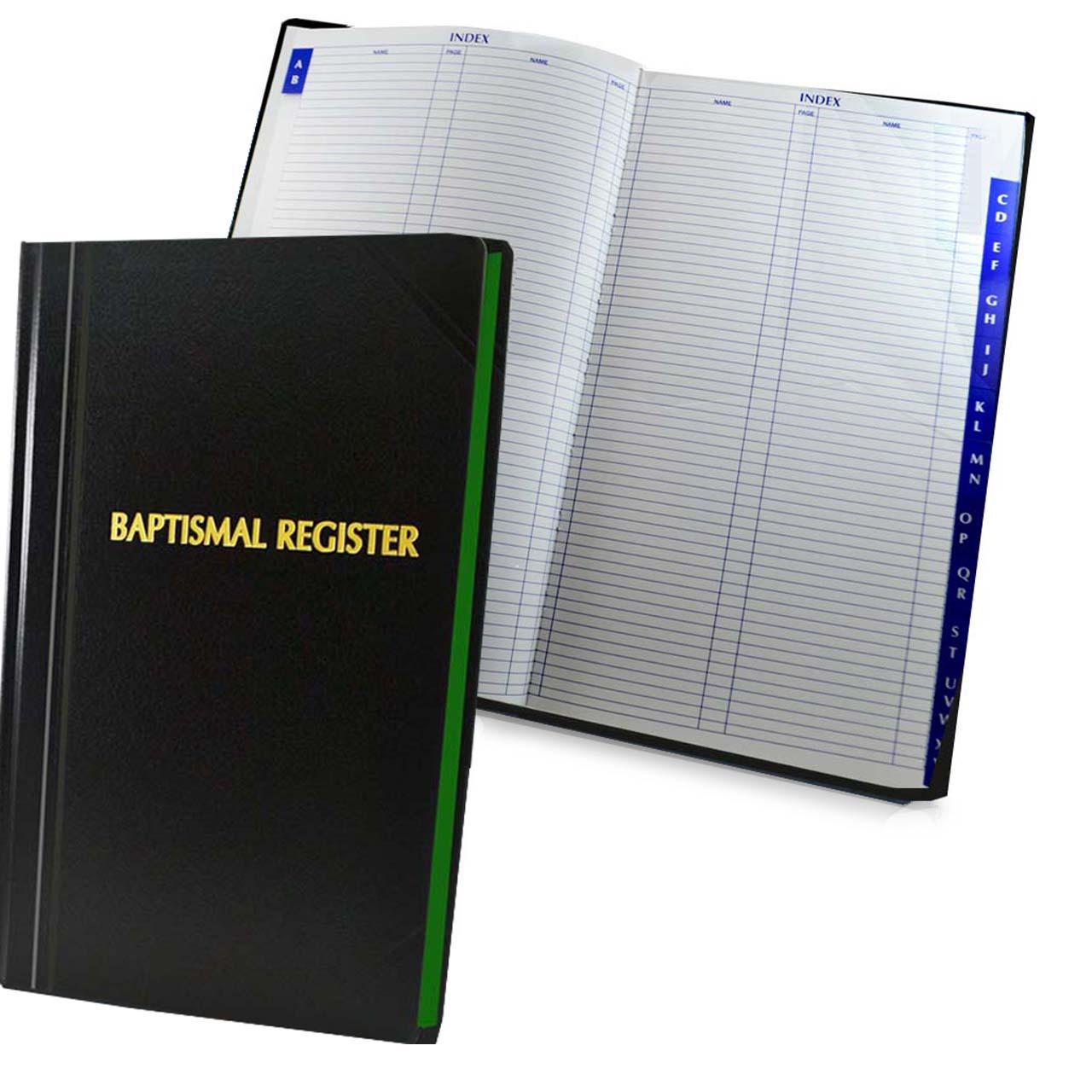500 Entry Baptism Register