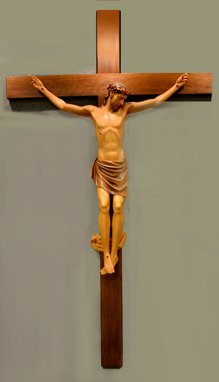 Crucifix: 8FT Hand Carved from Demetz