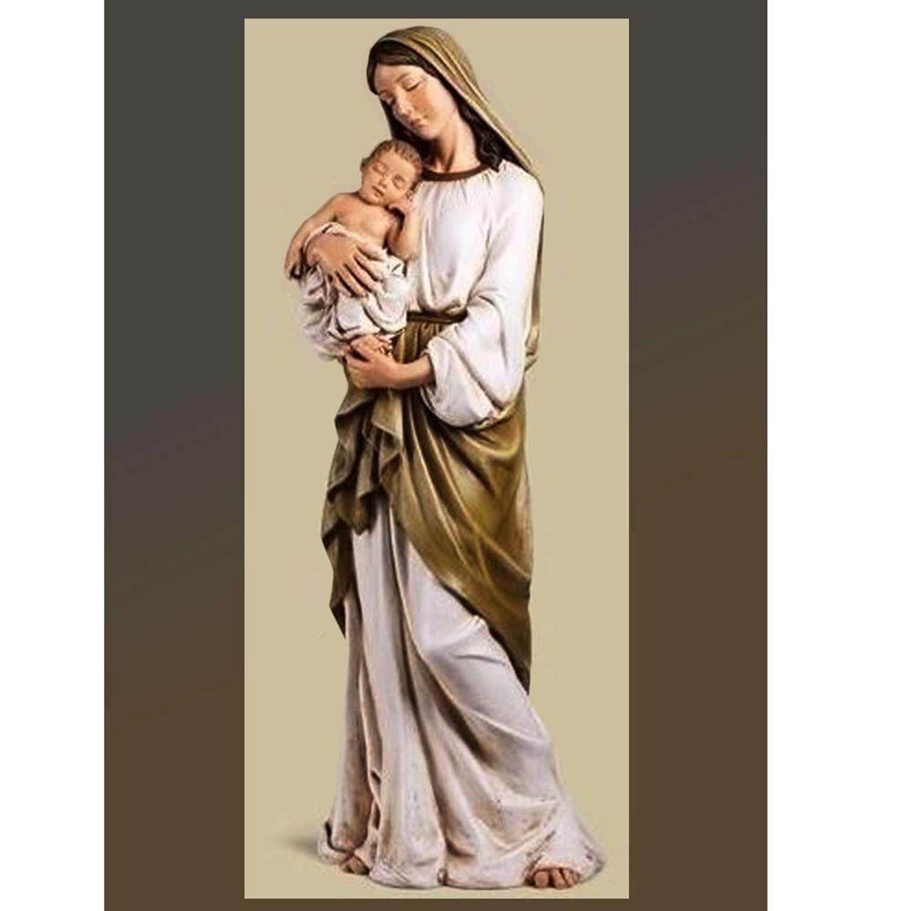 "37"" Madonna and Child Statue"