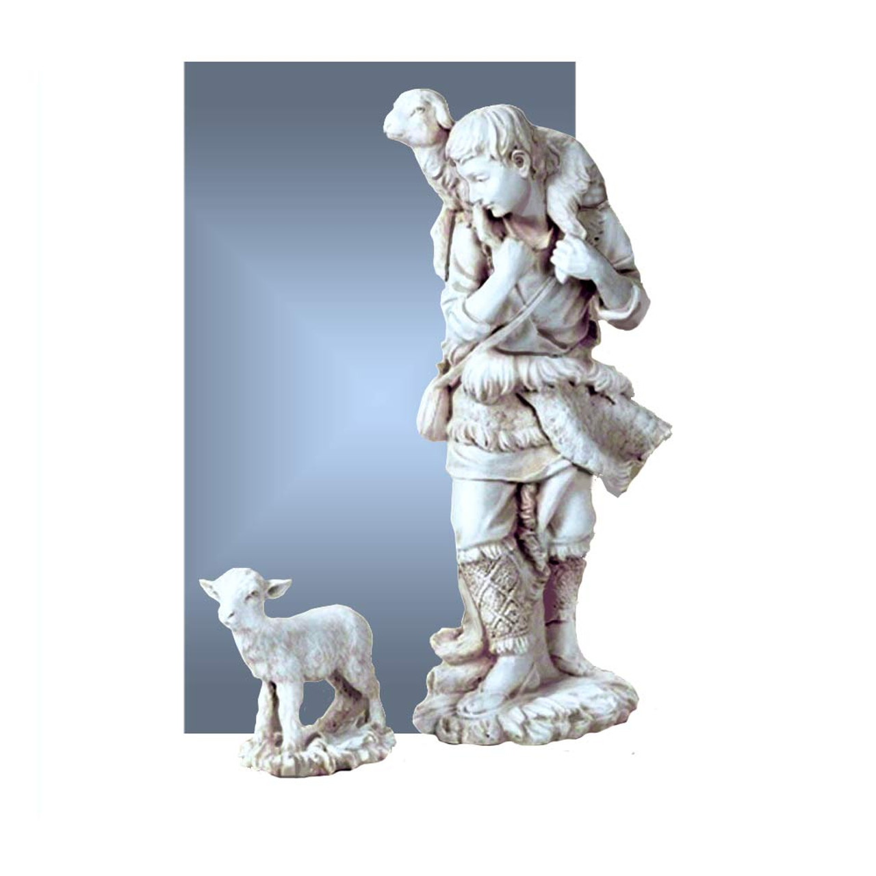 Shepherd and Lamb for 27IN Nativity Set White